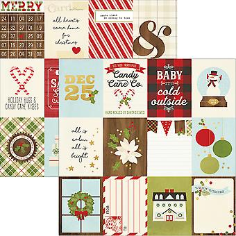 Classic Christmas Foil Double-Sided Elements Cardstock 12x12-3