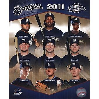 Milwaukee Brewers 2011 teamfoto samengestelde Sport