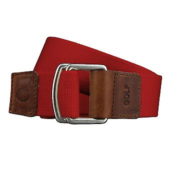 GOLF belts belts men's belts textile belt with double ring uni red 3493