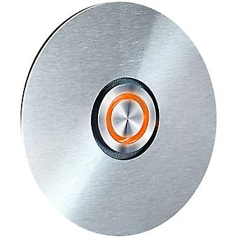 Interruptor de anillo de RADIO - acero inoxidable - led anillo naranja - 8.5 cm - aro - 580 A