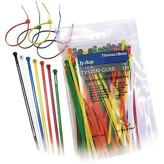 Ty-Rap® Cable ties detectable with steel-nose lock Black, Brown, Red, Orange, Yellow, Green, Blue, Purple, Grey, White