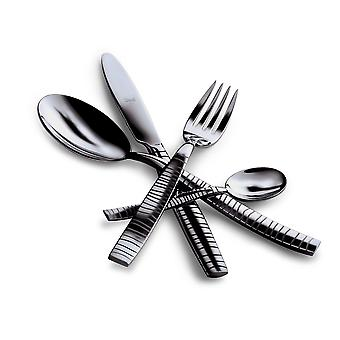 Mepra Tigre Oro Nero 4 pcs flatware set