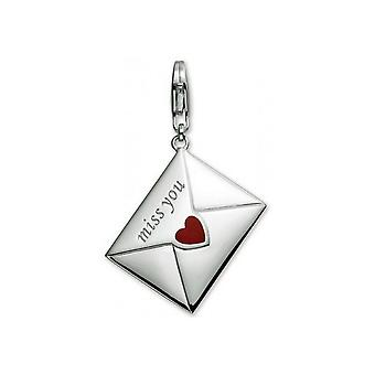 ESPRIT pendant of charms silver love letter XL 4425987