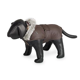 Nobby Marian Dog Coat Brown With Hood 44cm