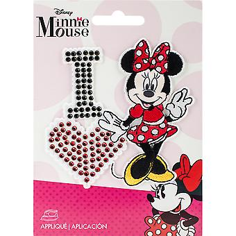 Disney Mickey Mouse Iron-On Applique-I Love Minnie 193 1600