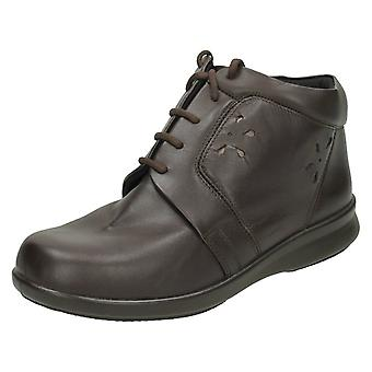 Ladies Easy B Lace Up Ankle Boots Track