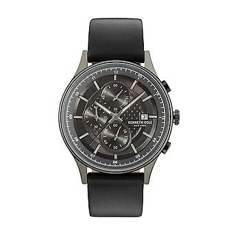 Kenneth Cole New York men's watch wristwatch Chronograh leather KC15101002