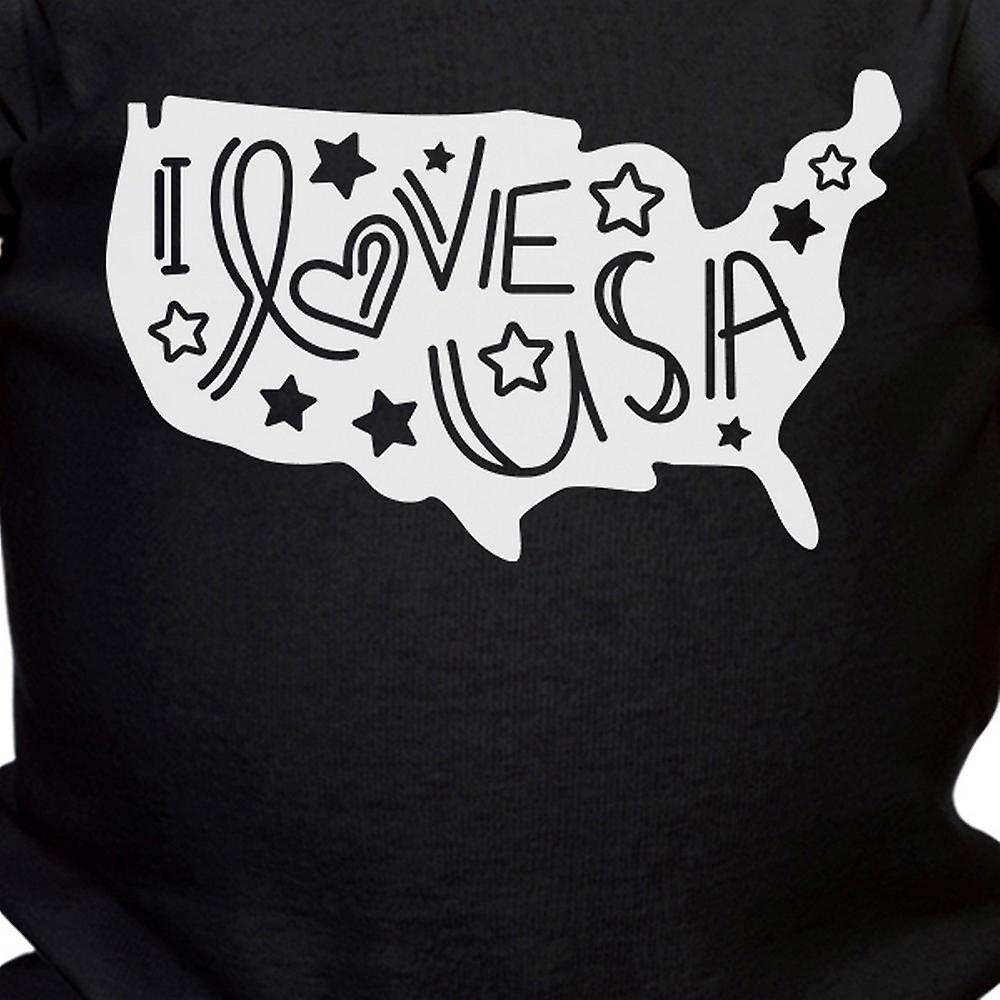 I Love USA Baby Bodysuit Cute Baby Shower Gift Ideas For Army Moms