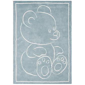 Kids soveværelse blå bamse tæppe