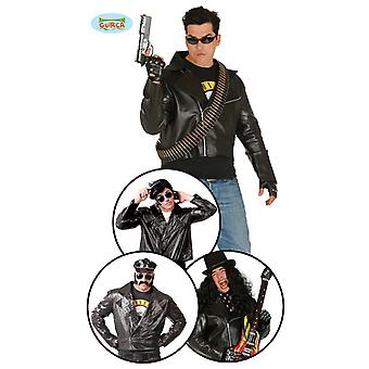 Rocker jacket motorcycle jacket rocker costume Mr costume one size