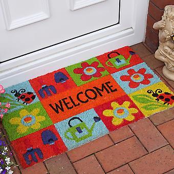 Coco Bright Colourful Welcome Garden Mat 355