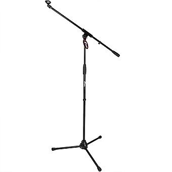Tiger Boom Microphone Stand with Standard 5/8inch Mic Clip - Black