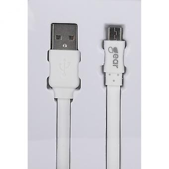GEAR synch cable MicroUSB 2 m White