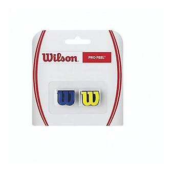 Wilson Pro Feel damper 2 Pack Blue and Yellow