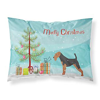 Airedale Terrier Merry Christmas Tree Stoff Standard Kissenbezug