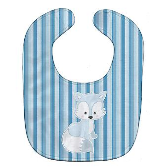 Carolines Treasures  BB8599BIB Fox on Blue Stripes Baby Bib