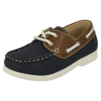 Boys JCDees Lace Up Loafers N1091