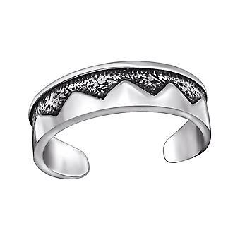 Patterned - 925 Sterling Silver Toe Rings - W29415x