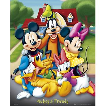 Mickey & Friends Poster Poster Print by Disney