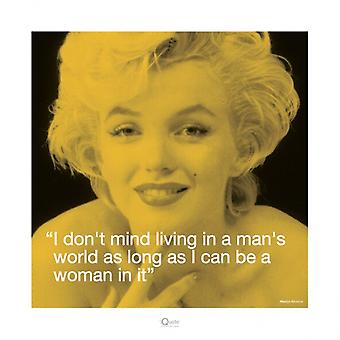 Marilyn Monroe - iQuote - Man Poster Poster Print