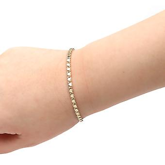 10k Yellow Gold Relationship and Friendship Mirror Chain Hand and Ankle Bracelet with Heart Charms, 0.12