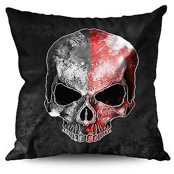 Rock Skull Colorful Sugar Linen Cushion Rock Skull Colorful Sugar | Wellcoda