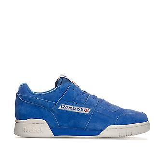 Mens Reebok Workout Plus Vintage Trainers In Awesome blauw / krijt