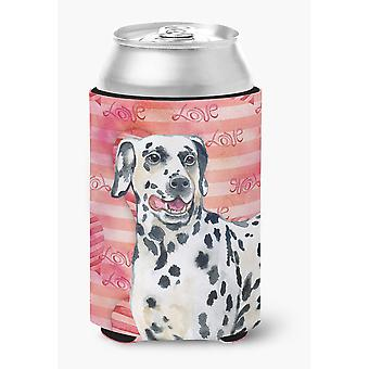 Carolines Treasures  BB9740CC Dalmatian Love Can or Bottle Hugger