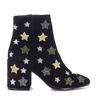 Windsor Smith women's STARDUST Black Suede Ankle Boots