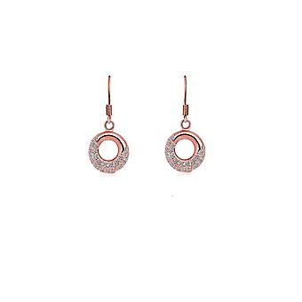 Womens Rose Gold Dangle Earrings Jewellery With Crystal Stones Mix And Match Jewellery