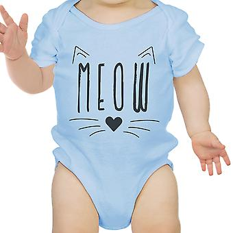 Meow Hooded Sweatshirt regalo Sky Blue
