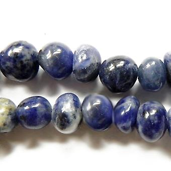 Strand 35+ Blue Sodalite Approx 8 x 10mm Smooth Nugget Beads GS6373