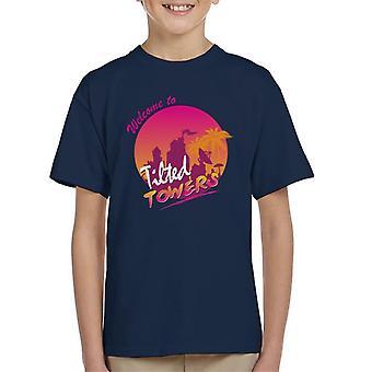 Fortnite velkommen til skrå tårne børne T-Shirt