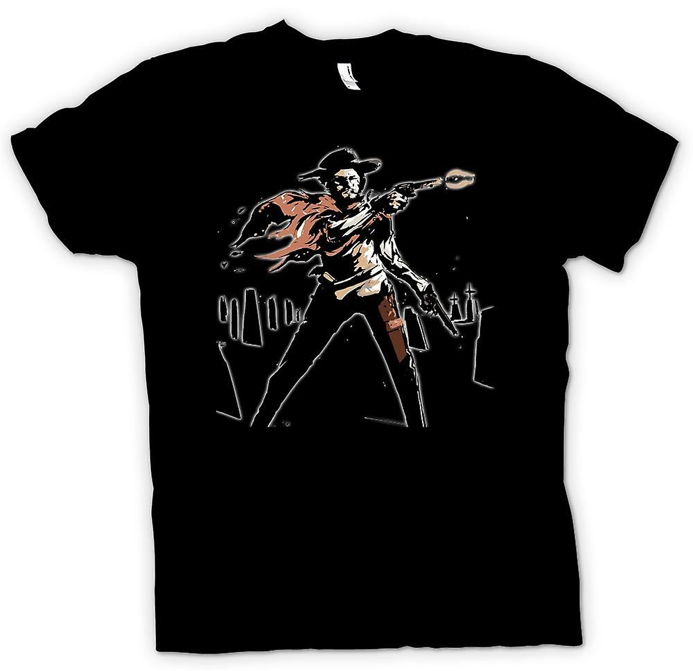 Barn T-shirt - Spaghetti-Western - Cowboy - skiss