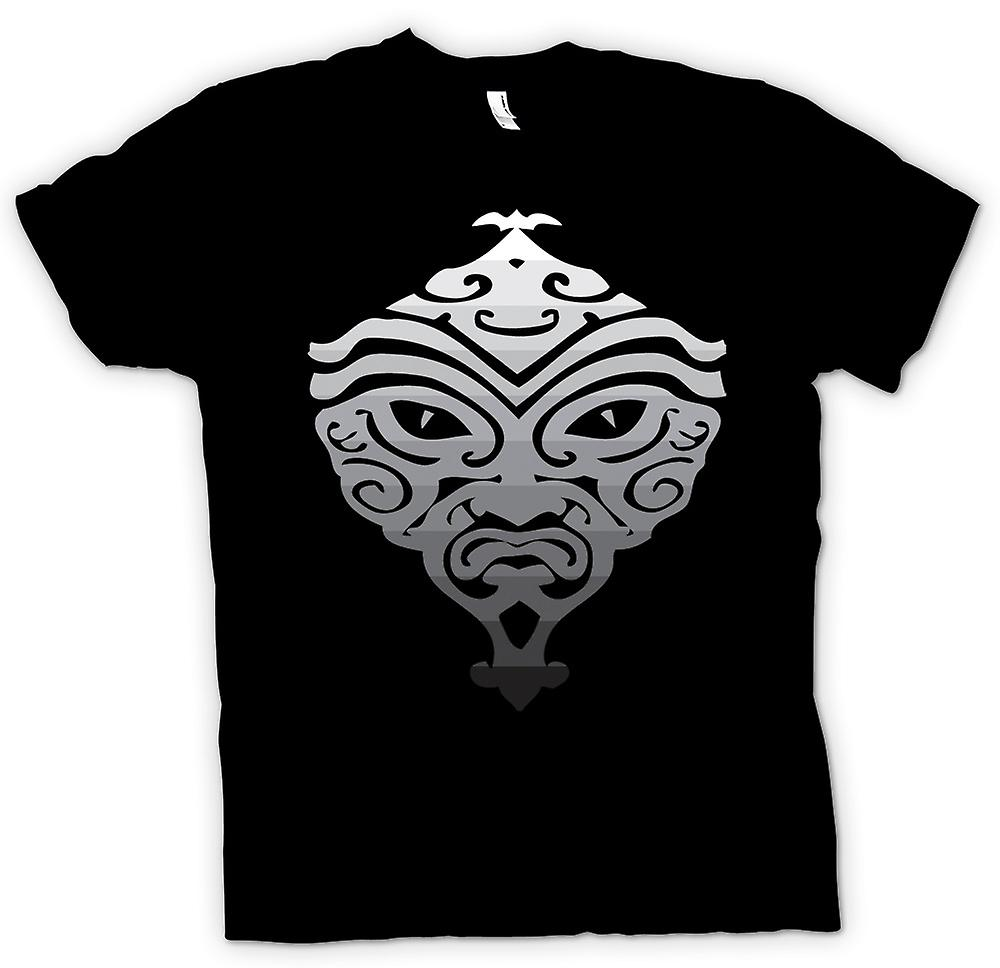 Mens T-shirt - Maori Mask Ethnic Design