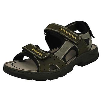 Mens Rieker Casual Strapped Sandals 26157-54 - Green Combi Synthetic - UK Size 10.5 - EU Size 45 - US Size 11.5