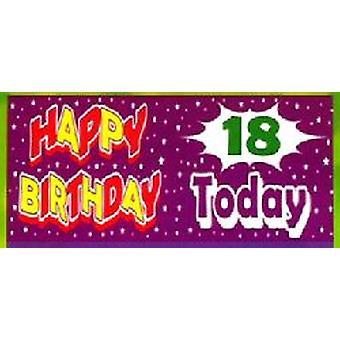 18 års fødselsdag Banner