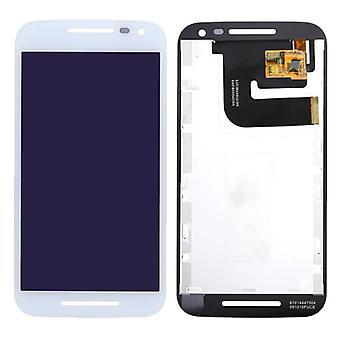Écran LCD complet pour le blanc de Motorola Moto G 3ème génération XT1540 XT1541