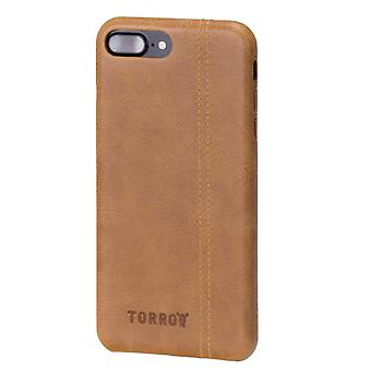 Iphone 8 Plus / Iphone 7 Plus Tan Usa Leather Back Bumper Case