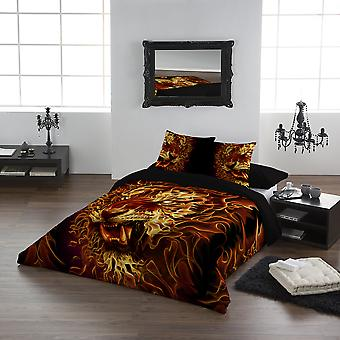 FIRE OF THE TIGER - Duvet & Pillowcases Covers Set UK King/US Queen