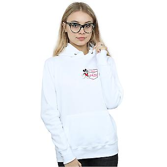 Disney Women's Mickey Mouse Faux Pocket Since 1928 Hoodie