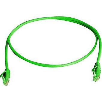 Telegärtner 45 réseaux câble CAT 5e U/UTP 1 m vert ignifuge, sans halogène