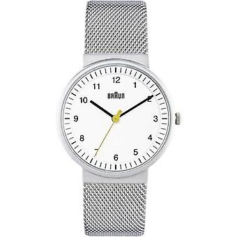 Quartz Wristwatch BN0031WHSLMHL (Ø x H) 33 mm x 8 mm Stainless steel Enclosure material=Stainless steel Material (watch strap)=Stainless steel Braun