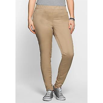 sheego Treggings Twill quality short size plus size Brown