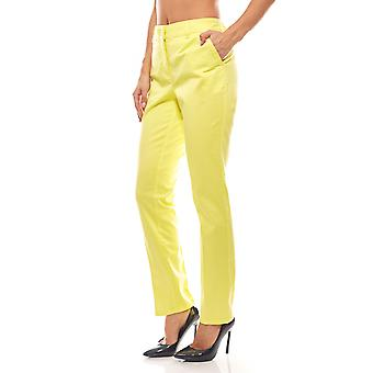 PATRIZIA DINI ladies cigarette trousers pants in yellow
