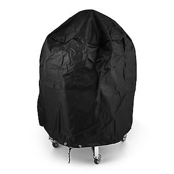 Nova - Kamado 21 and 23.5 Inch BBQ Cover - Black Egg-Shaped Outdoor Barbecue PVC Protector