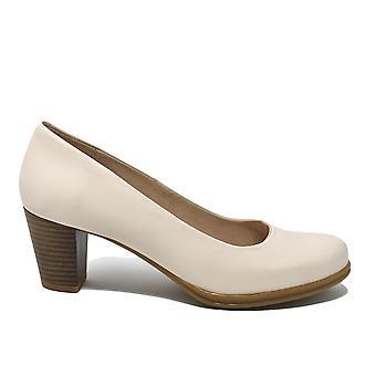 Liberitae Zapatos De Salón Salón Tacón Medio En Piel Beige 11803482-05