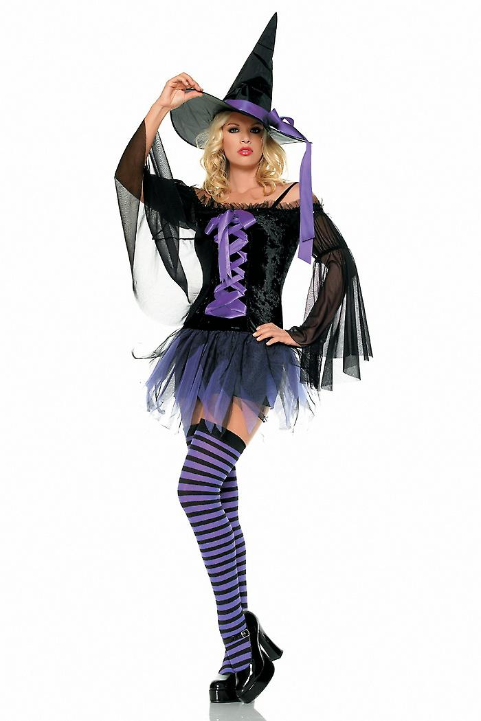 Waooh 69 - Dress Sexy Costume Sexy Witch In Purple