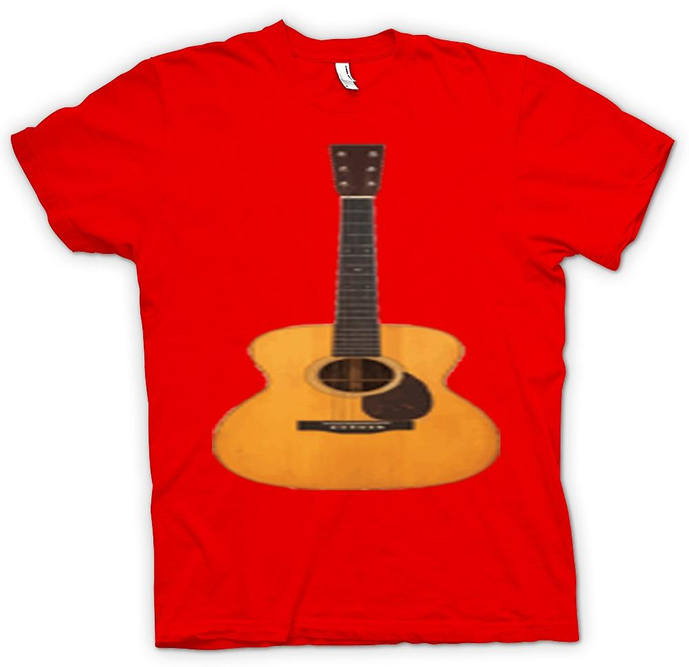 Mens t-shirt-chitarra acustica Rock & Roll
