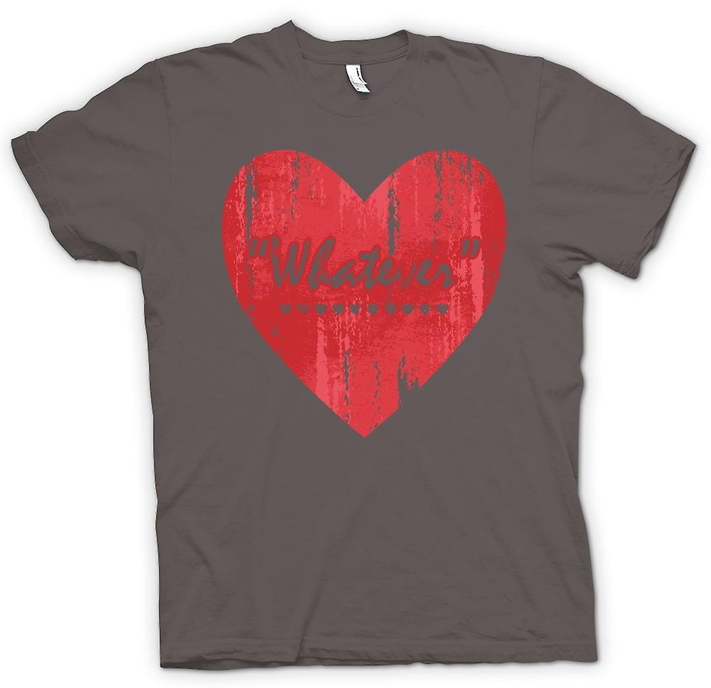 Heren T-shirt - wat - Love - Funny